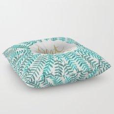 Treat Yo Self – Gold & Turquoise Floor Pillow
