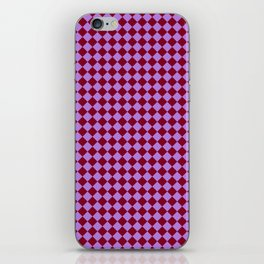 Lavender Violet and Burgundy Red Diamonds iPhone Skin