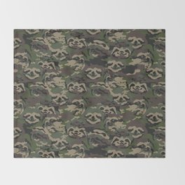 Sloth Camouflage Throw Blanket