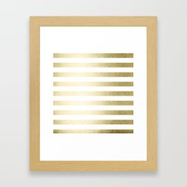 Simply Striped Gilded Palace Gold Framed Art Print