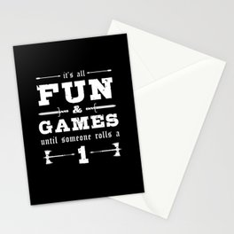 Its All Fun and Games Nerd Stationery Cards