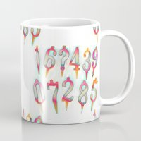 numbers Mugs featuring Numbers! white by gasponce