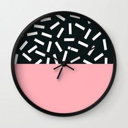 Memphis pattern 24 Wall Clock
