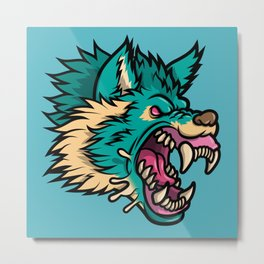 Cold Harsh Wolf Metal Print