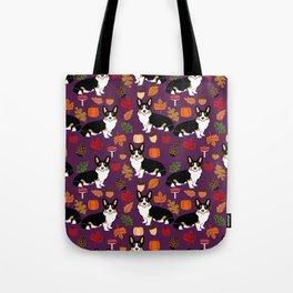 Tricolored Corgi autumn woodland pillow print iphone case phone case corgis cute design Tote Bag