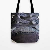 shoe Tote Bags featuring Shoe by Fine2art