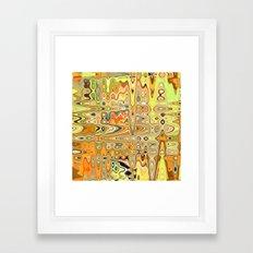 Converging Continents Framed Art Print