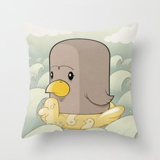 Chick Across the Sea Throw Pillow