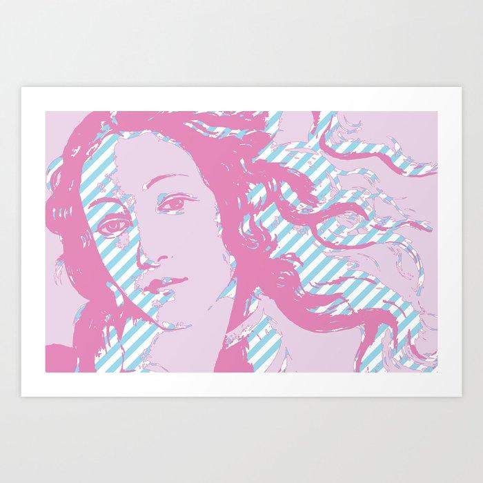 Rebirth of Venus - Pink & Cyan - Trans Pride! Art Print