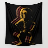 spaceman Wall Tapestries featuring Ancient Spaceman by bronzarino