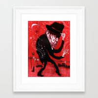 tom waits Framed Art Prints featuring Tom Waits by C.M. Duffy