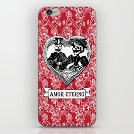 Amor Eterno | Eternal Love | Red and Black iPhone Skin