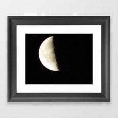 Moon shot taken from the Dark Sky Observatory Scotland Framed Art Print