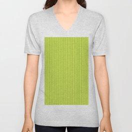 Lime Green Pinstripe Unisex V-Neck