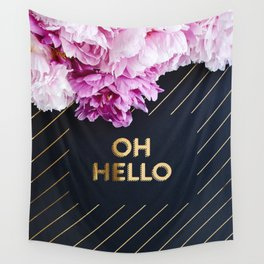 Oh hello Peonies Wall Tapestry