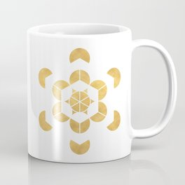 HEXAHEDRON CUBE sacred geometry Coffee Mug