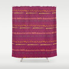 Plum Shower Curtain
