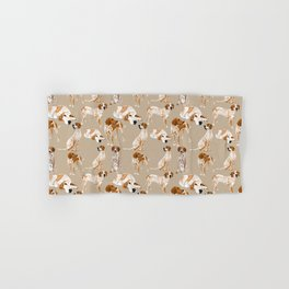 Redtick Coonhounds on Tan Hand & Bath Towel