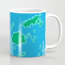 Fiji Map with Fijian iTaukei Flag Coffee Mug