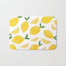 Lemon Cut Out Pattern Bath Mat