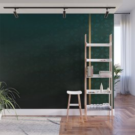 Emerald and Gold Accents Wall Mural