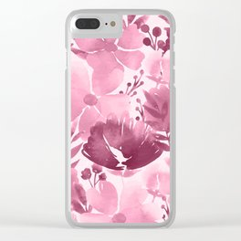 Watercolour background with variety of flowers III Clear iPhone Case
