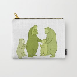 Bear family of Five Carry-All Pouch