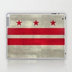 Washington D.C flag with worn vintage textures Laptop & iPad Skin