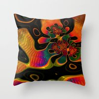 trippy Throw Pillows featuring Trippy by Amanda Moore