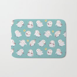 Baby Barn Owls Bath Mat