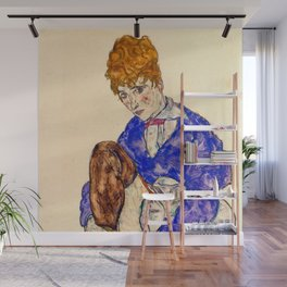 """Egon Schiele """"Portrait of the Artist's Wife Seated, Holding Her Right Leg"""" Wall Mural"""