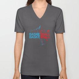 Basketball Player Unisex V-Neck