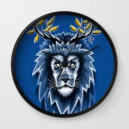 Deer Lion Wall Clock