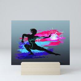 Martial arts, karate, yoga, aikido, judo, athlete Mini Art Print