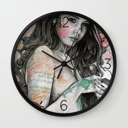 You Lied (nude girl with mandala tattoos) Wall Clock