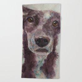 Parson, the cattle dog Beach Towel