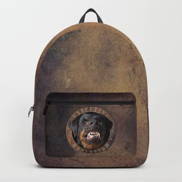 Executive bodyguard Angry rottweiler Backpack
