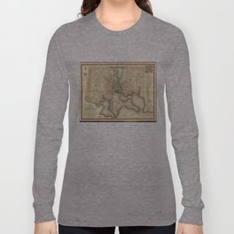 Vintage Map of Baltimore Maryland (1822) Long Sleeve T-shirt