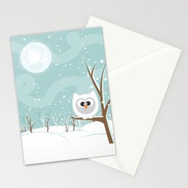 Arctic Owl Stationery Cards