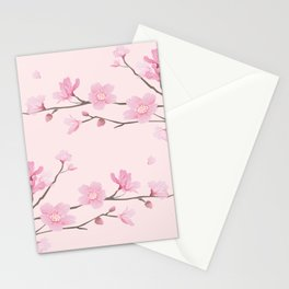 Square - Cherry Blossom - Pink Stationery Cards