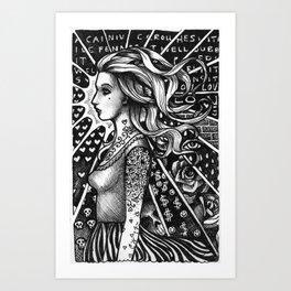Dark Glow Art Print
