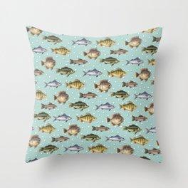 Watercolor Fish Throw Pillow