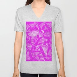 Playing with squares Unisex V-Neck