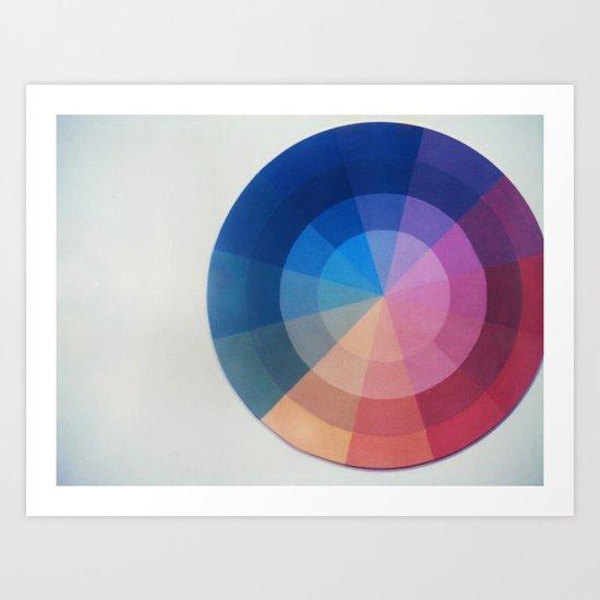 Color Wheel Polaroid Art Print