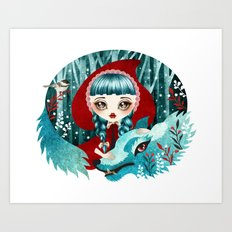 Red of the Woods Art Print