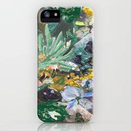 Flower piece Mint green purple | by Martine de Ruiter iPhone Case