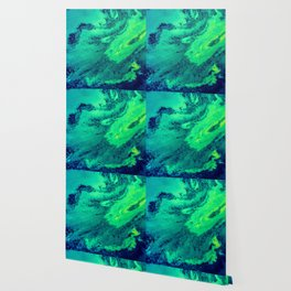 Green and Blue Abstract (Color) Wallpaper