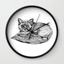 Fox Mystery  Wall Clock