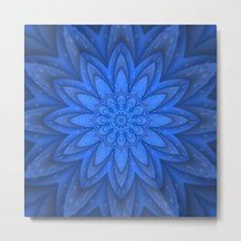Blue petals with tiny details Metal Print