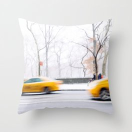 City Winter Throw Pillow